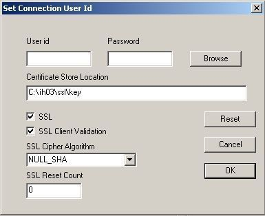 IHO3 Set Connection User Id
